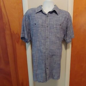 Denim looking short sleeve shirt